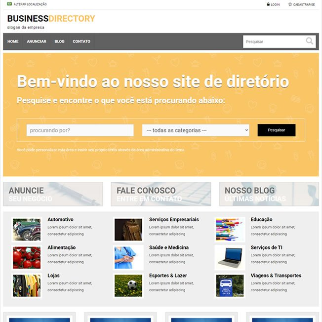 Guia Comercial Template WordPress 238 A