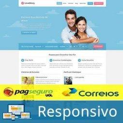 Namoro Online Template WordPress Português 235 A pagseguro correios