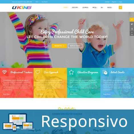 Infantil Crianças Template Joomla Responsivo 205