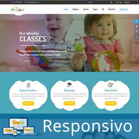 Infantil Crianças Template Joomla Responsivo 055