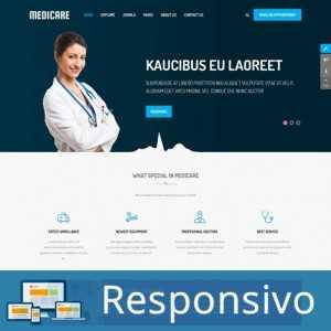 Template hospital medico consultorio responsivo super eleva 213