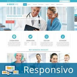 Template hospital saude clinica responsivo super eleva 243