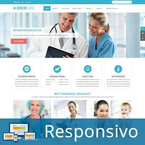 Saúde Hospital Template Joomla Responsivo 243