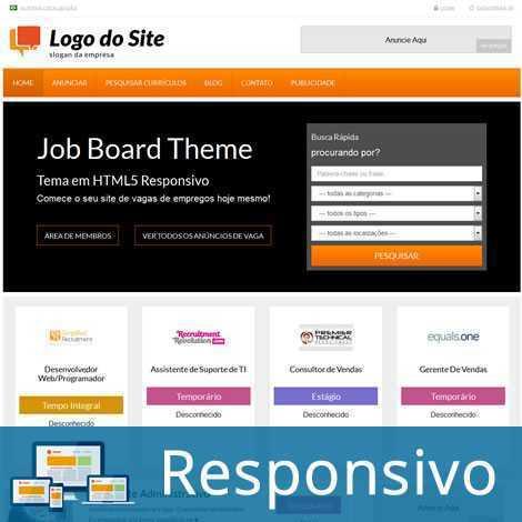 Vagas de Emprego Template WordPress Português 237 A