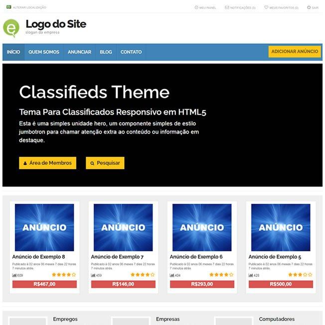 Classificados Template Wordpress 268 A v1
