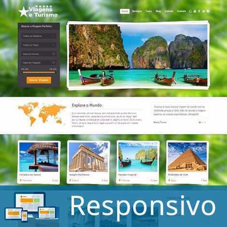 Agência de Viagens Template WordPress Responsivo 254 A