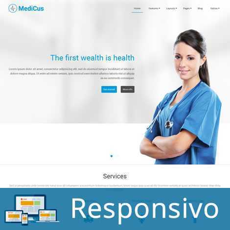 Template joomla hospital medico super eleva 245