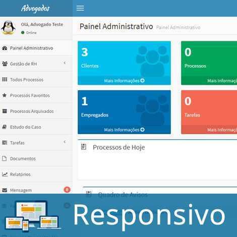 Sistema Script PHP Advogado Escritório Advocacia 265 A