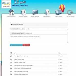 Sistema Script PHP Boletim Escolar Profissional Português 256 A 2