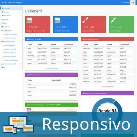 Sistema PHP Gerenciador Financeiro Pessoal 266 A