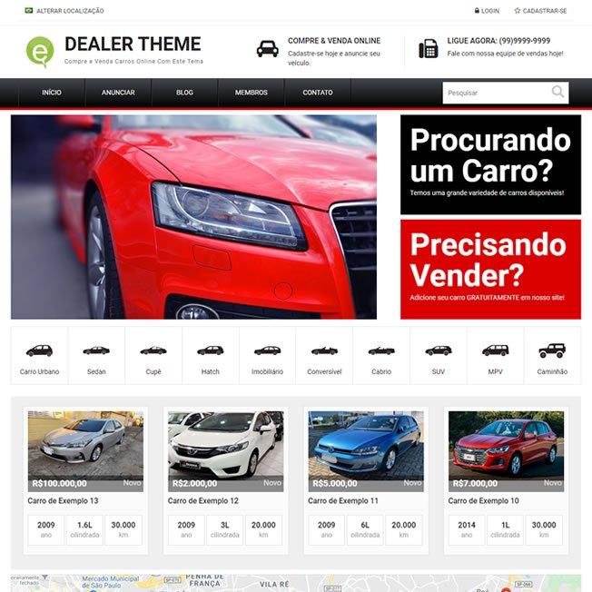 Revenda de Carros Template WordPress Português 261 A