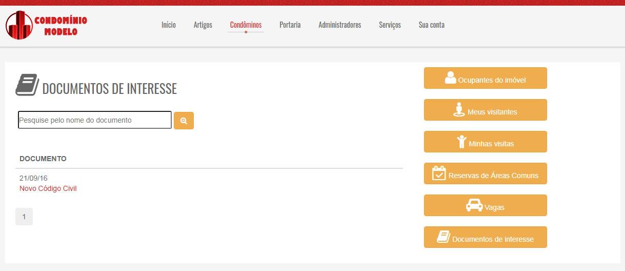 Criar Site Condomínio em Português 264 A