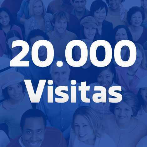 vinte mil visitas para seu site