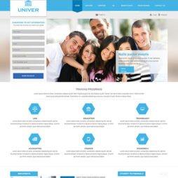 Criar Site Escola Joomla Responsivo 250 S