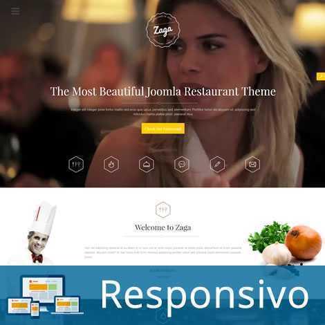 Restaurante Pizzaria Template Joomla Responsivo 246