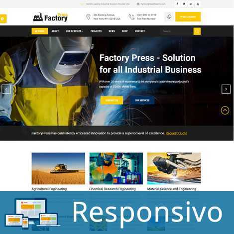 Indústria Fábrica Template Joomla Responsivo 269