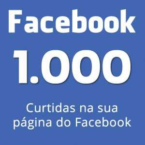 mil curtidas na sua pagina do facebook