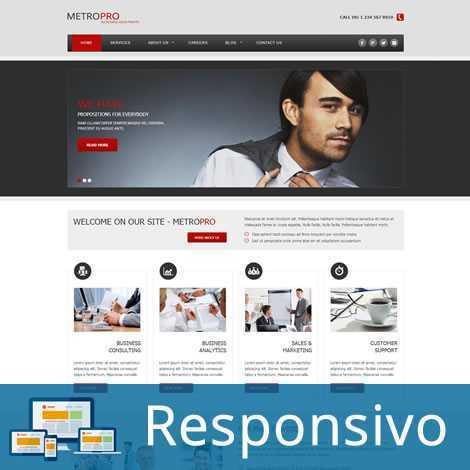 Empresa Template Joomla Responsivo 284 Script PHP Tema