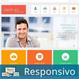 Empresa MarketingTemplate Joomla Responsivo 287 Script PHP Tema