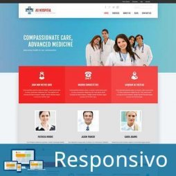 Hospital ClinicaTemplate Joomla Responsivo 286 Script PHP Tema