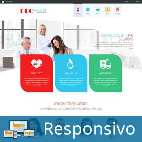 Hospital ClinicaTemplate Joomla Responsivo 290 Script PHP Tema