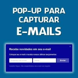 POPUP PARA CAPTURAR EMAILS