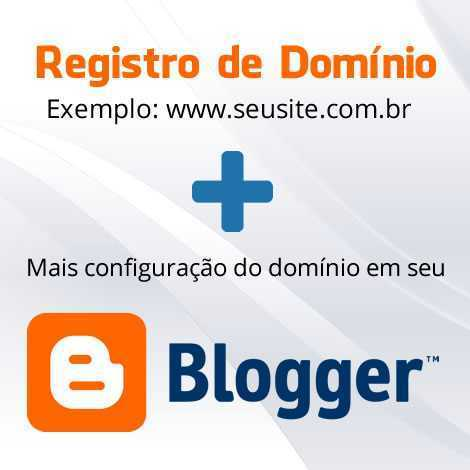 configurar dominio no blogger site