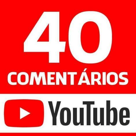 40 Comentários Youtube Vídeo Canal Garantido
