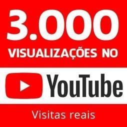 3000 vizualizações no youtube visitas reais