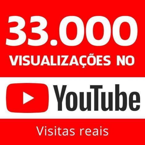 33000 vizualizações no youtube visitas reais