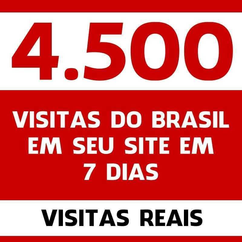 4.500 visitas do Brasil em seu site em 7 dias