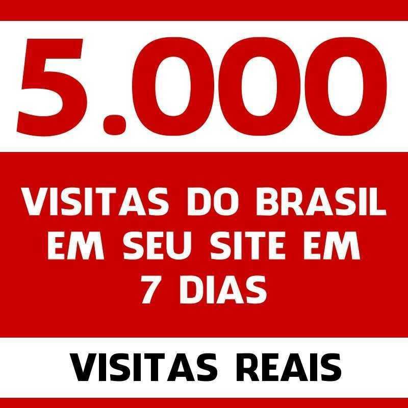 5.000 visitas do Brasil em seu site em 7 dias