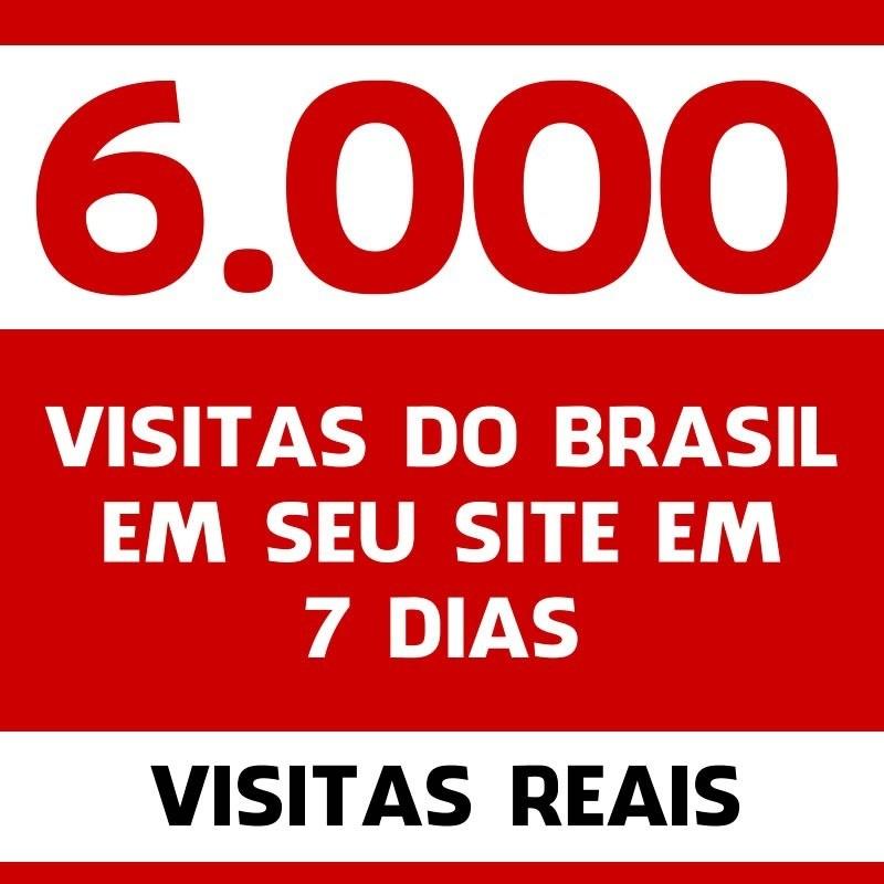 51bf647698 6000 Mil Visitas do Brasil em seu site em 7 dias