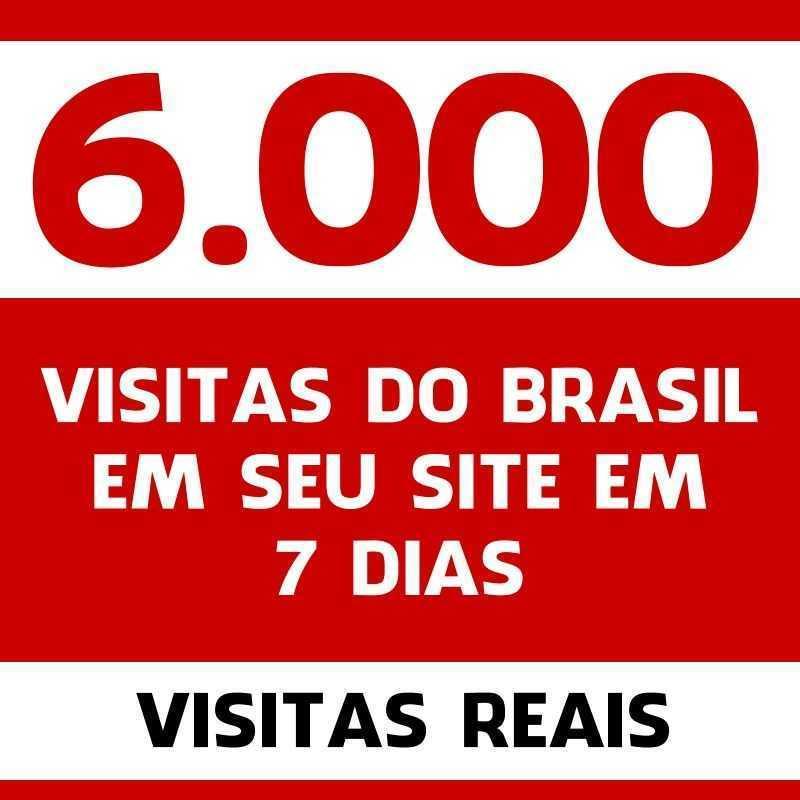 6000 Mil Visitas do Brasil em seu site em 7 dias