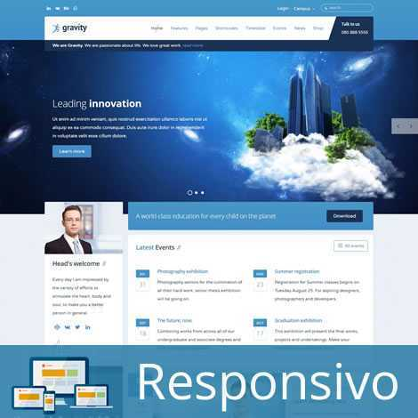 Site Escola Template Joomla Responsivo 271