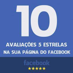 10 Avaliações 5 estrelas na sua página do facebook