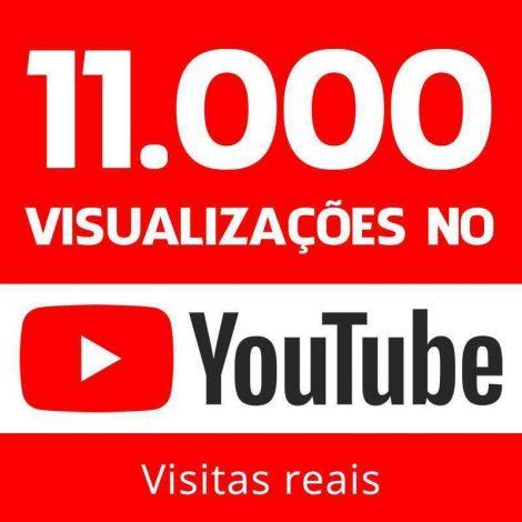 11000 VISUALIZAÇÕES YOUTUBE VIEWS