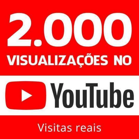 2000 VISUALIZAÇÕES YOUTUBE VIEWS