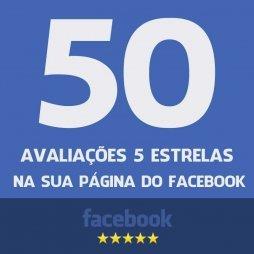 50 Avaliações 5 estrelas na sua página do facebook