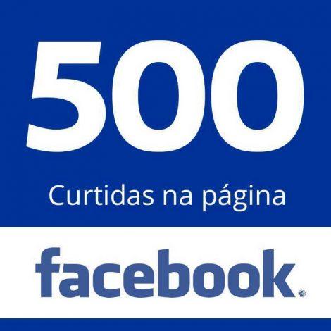 500 Curtidas Página Facebook