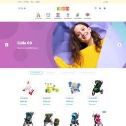 Loja Virtual Infantil WordPress Responsivo Português 1049