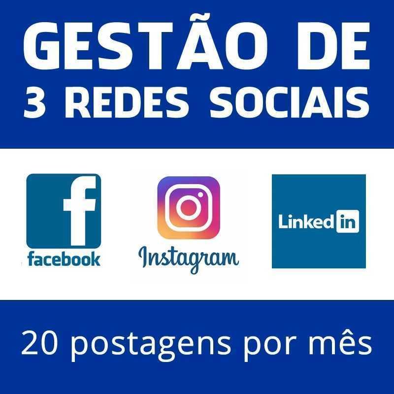 Gestão De 3 Redes Sociais Facebook Instagram Linkedin