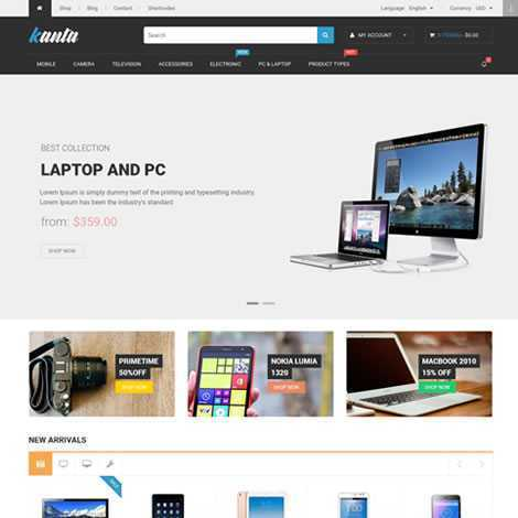 Loja Virtual Template WordPress Responsivo 596 S