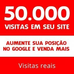 50 mil visitas site blog loja virtual