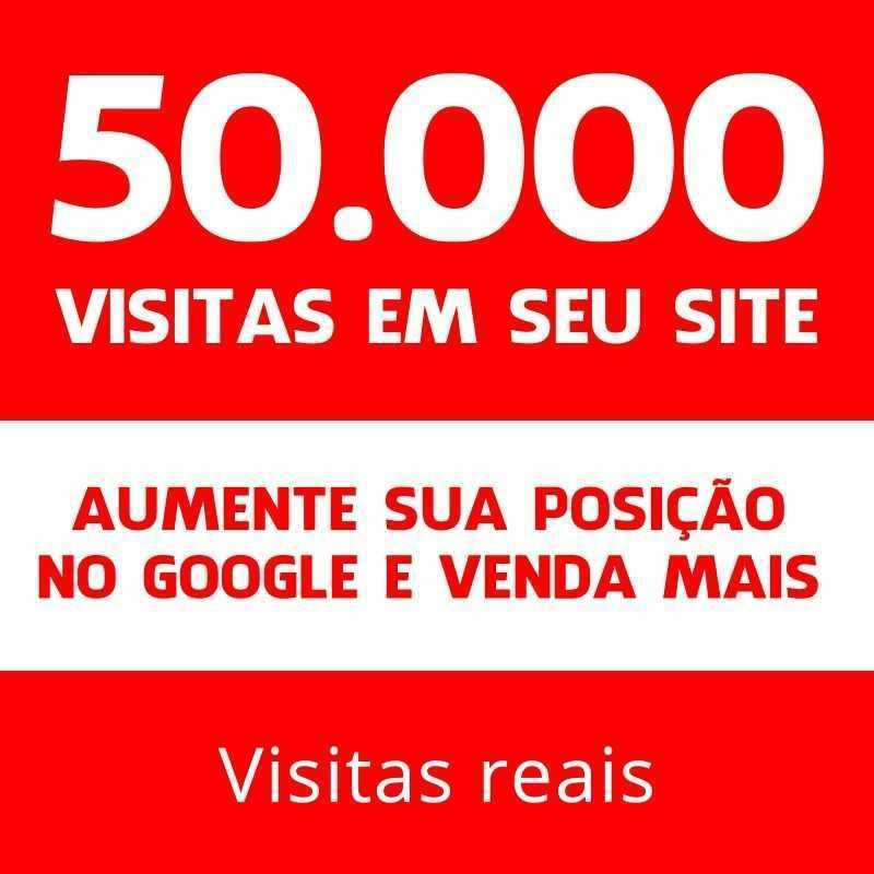 50 Mil Visitas Site Blog Loja Seguro