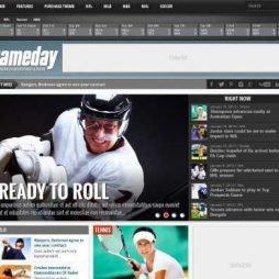 Template Esporte Notícias Jogos Wordpress Responsivo 675