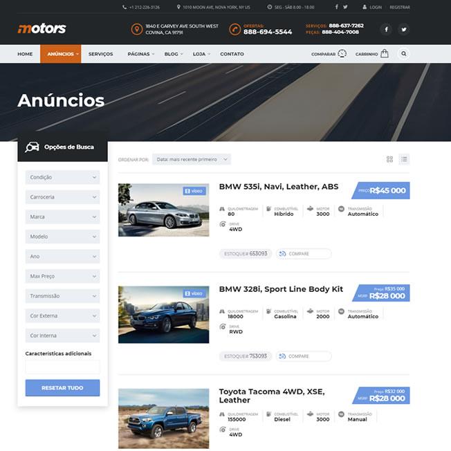 Criar Site Automóveis WordPress Português 1077 a4