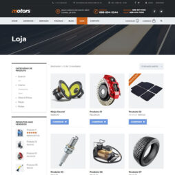 Criar Site Automóveis WordPress Português 1077 S