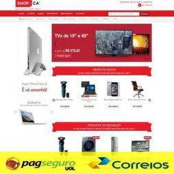 Loja Virtual E-Commerce Responsivo PHP 534 pagseguro correios