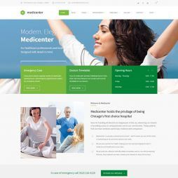 Template Clinica Médica, Dentista Hospital WordPress 570 v2